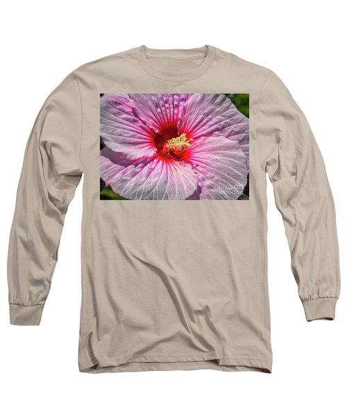 The Hibiscus Flower Long Sleeve T-Shirt