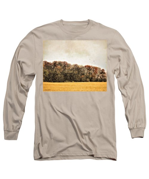 Three Crows And Golden Field Long Sleeve T-Shirt