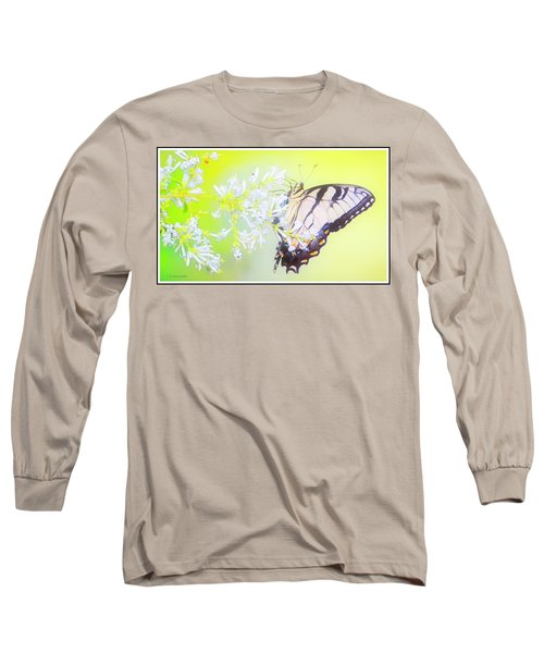 Tiger Swallowtail Butterfly On Privet Flowers Long Sleeve T-Shirt