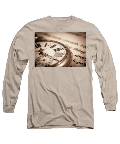 Time And Words Long Sleeve T-Shirt