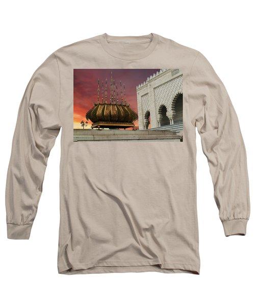 Traditional Outdoor Lighting Urn, Mausoleum Long Sleeve T-Shirt