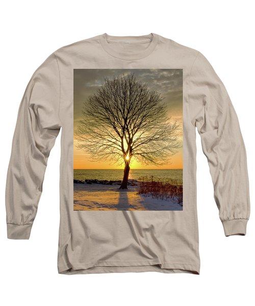 Tree Framed Sunrise New Hampshire Long Sleeve T-Shirt