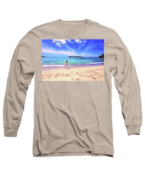 Tropical Spring Long Sleeve T-Shirt