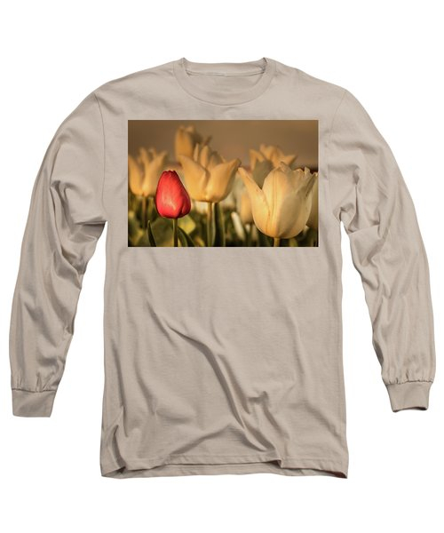 Long Sleeve T-Shirt featuring the photograph Tulip Field by Anjo ten Kate