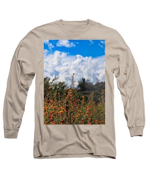 Under  A White Fluffy Cloud Long Sleeve T-Shirt