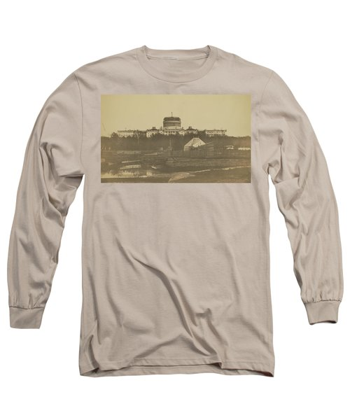 United States Capitol Under Construction Long Sleeve T-Shirt
