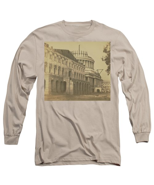 United States Capitol Under Construction Long Sleeve T-Shirt