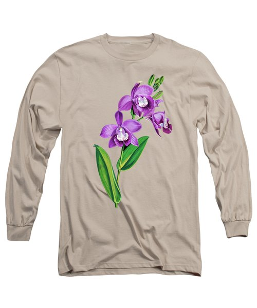 Vintage Purple  Orchidx Long Sleeve T-Shirt