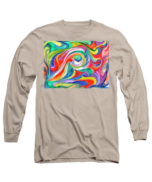 Watercolor's Swirl Long Sleeve T-Shirt