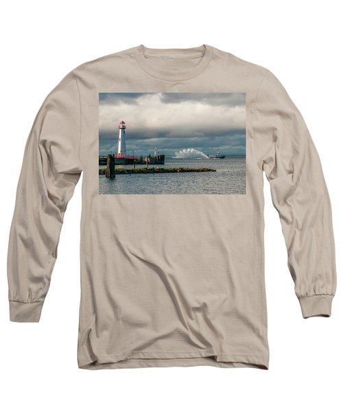 Wawatam Lighthouse Long Sleeve T-Shirt
