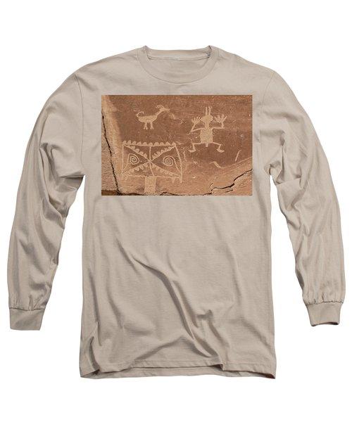Whimsical Petroglyph Panel  Long Sleeve T-Shirt