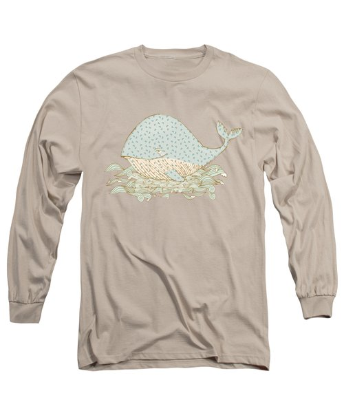 Whimsical Whale Long Sleeve T-Shirt
