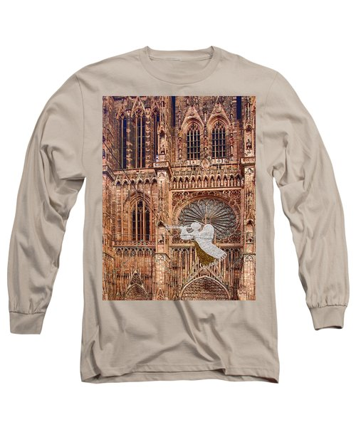 White Angel Decorations On Shops At The Christmas Market Long Sleeve T-Shirt
