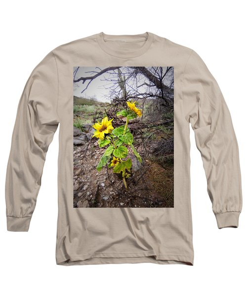 Wild Desert Sunflower Long Sleeve T-Shirt