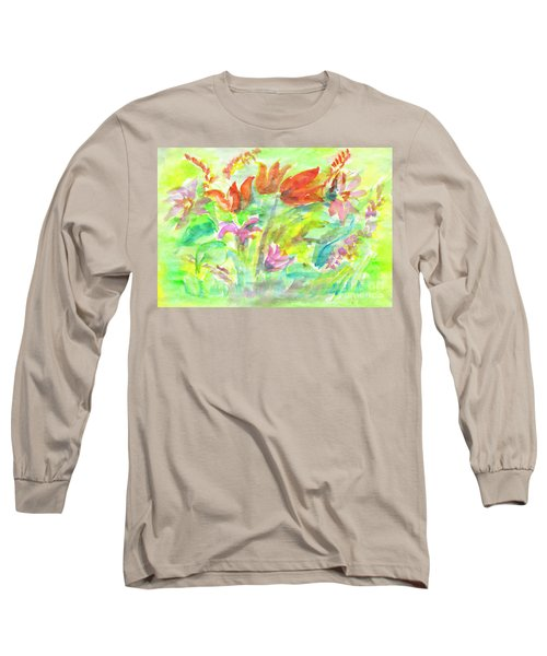 Wild Flowers In The Sunny Meadow Long Sleeve T-Shirt