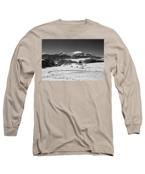 Wilson Mesa Winter Portrait Long Sleeve T-Shirt