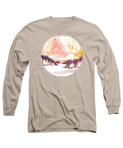 Winter Abstract Long Sleeve T-Shirt