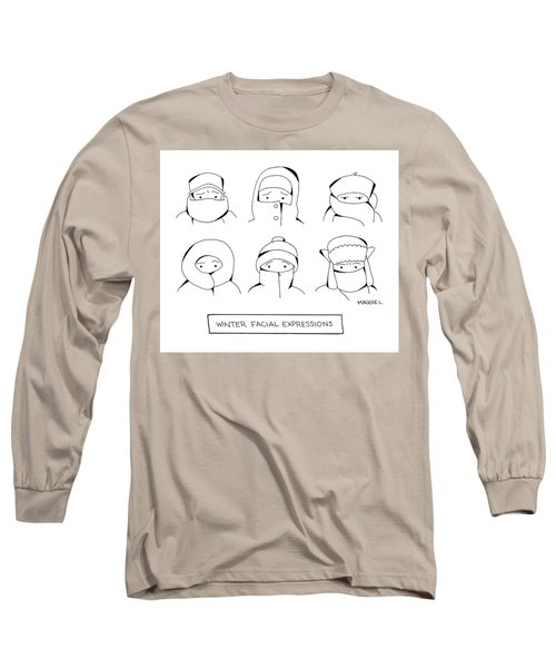 Winter Facial Expressions Long Sleeve T-Shirt