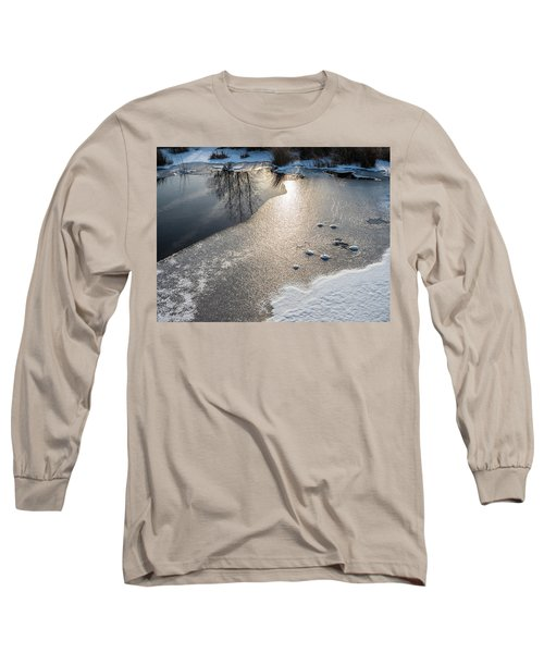 Long Sleeve T-Shirt featuring the photograph Winter Landscape At Whitesbog by Louis Dallara