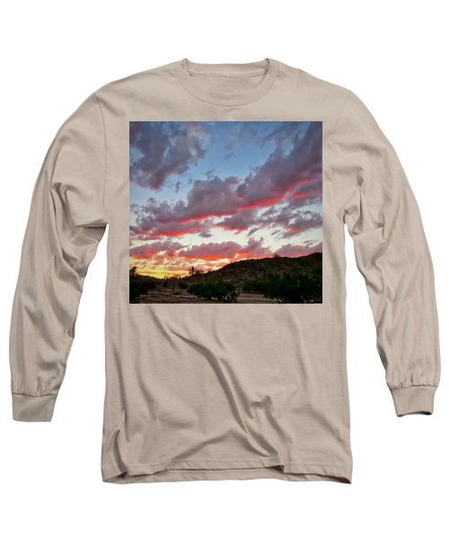 Long Sleeve T-Shirt featuring the photograph Y Cactus Sunset  11 by Judy Kennedy