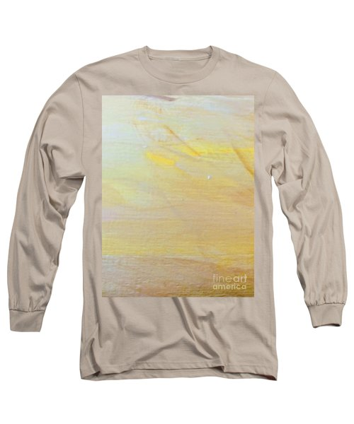 Long Sleeve T-Shirt featuring the painting Yellow #2 by Maria Langgle