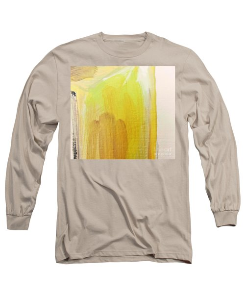 Long Sleeve T-Shirt featuring the painting Yellow #3 by Maria Langgle