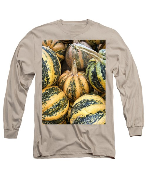 Yellow And Green Pumpkins Long Sleeve T-Shirt