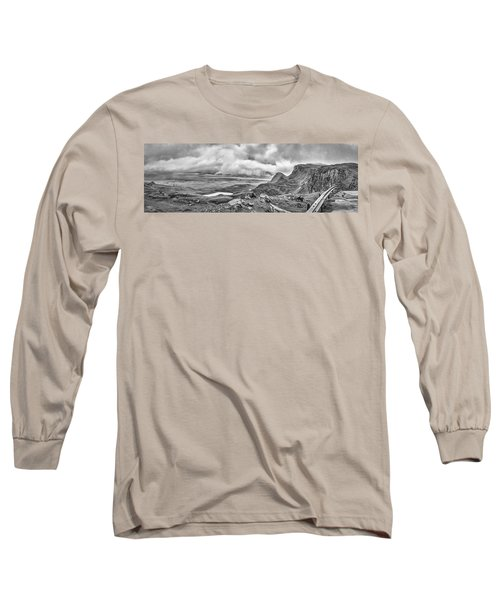 Yellow Autumn Panoramic Bw #i1 Long Sleeve T-Shirt