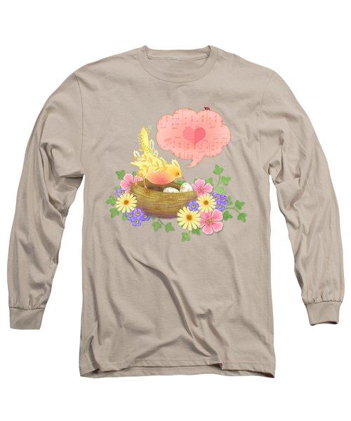 Yellow Bird's Love Song Long Sleeve T-Shirt