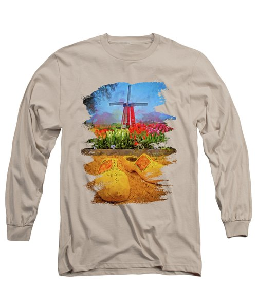 Yellow Wooden Shoes Long Sleeve T-Shirt