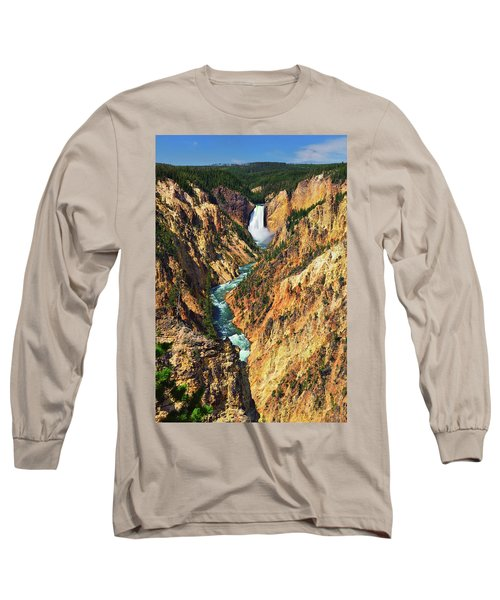 Yellowstone Grand Canyon From Artist Point Long Sleeve T-Shirt
