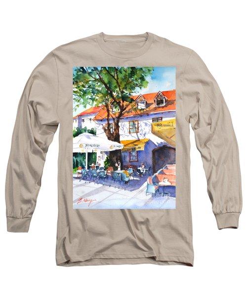Zagreb Cafe #3 Long Sleeve T-Shirt