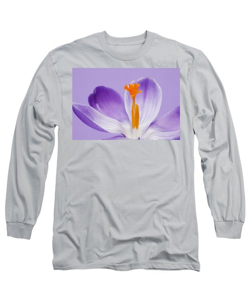 Abstract Purple Crocus Long Sleeve T-Shirt