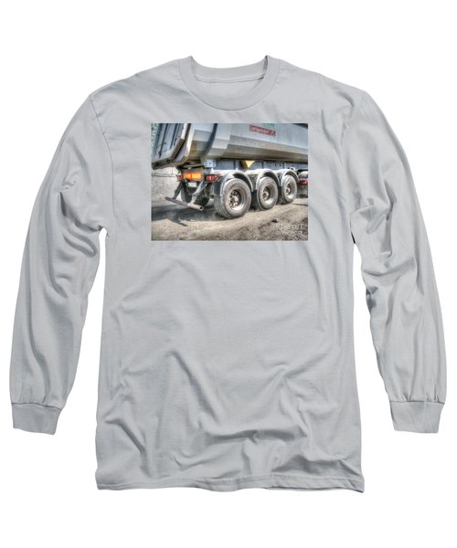 Long Sleeve T-Shirt featuring the pyrography  Workers At The Construction Site by Yury Bashkin
