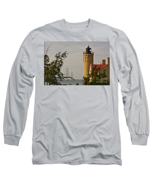 0558 Old Mackinac Point Lighthouse Long Sleeve T-Shirt