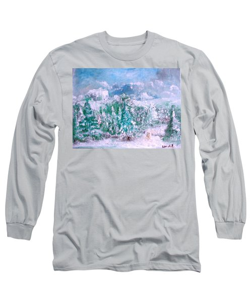 A Natural Christmas Long Sleeve T-Shirt by Laurie L