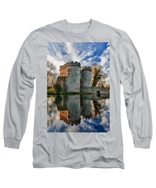 Ancient Whittington Castle In Shropshire England Long Sleeve T-Shirt