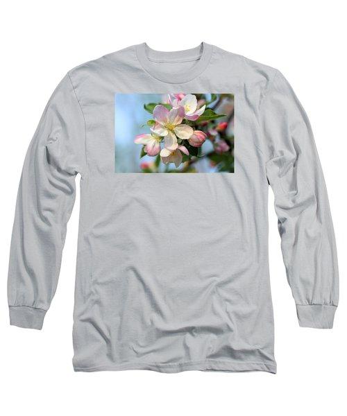 Apple Blossom Long Sleeve T-Shirt by Kristin Elmquist