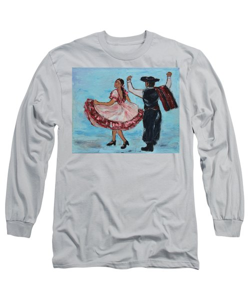 Argentinian Folk Dance Long Sleeve T-Shirt by Xueling Zou