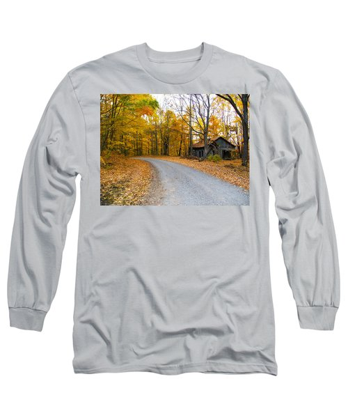 Autumn And The Old House Long Sleeve T-Shirt by Nick Kirby