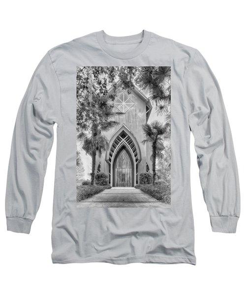 Long Sleeve T-Shirt featuring the photograph Baughman Meditation Center  by Howard Salmon