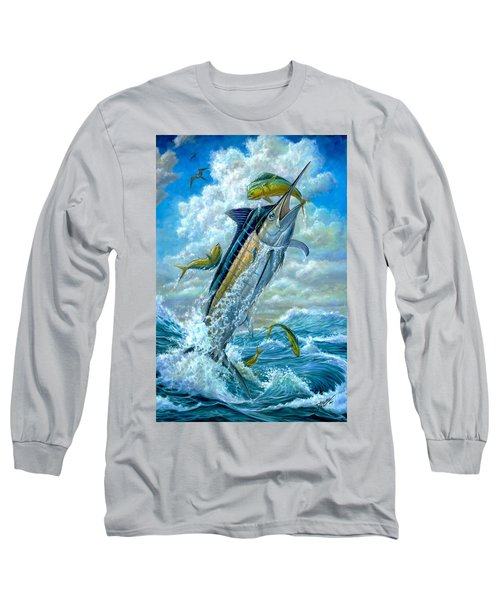Big Jump Blue Marlin With Mahi Mahi Long Sleeve T-Shirt