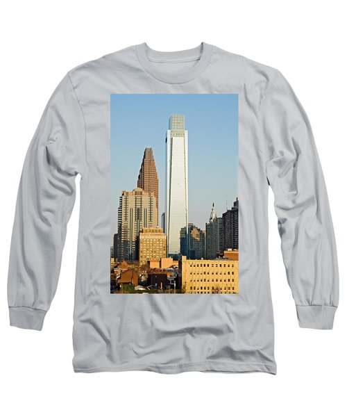 Buildings In A City, Comcast Center Long Sleeve T-Shirt by Panoramic Images