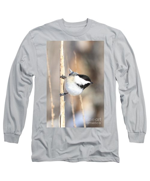 Black Capped Cutie Long Sleeve T-Shirt by Heather King