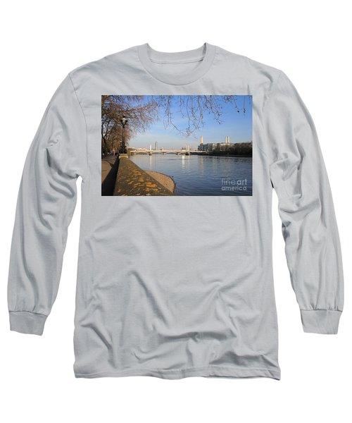 Chelsea Embankment London Uk Long Sleeve T-Shirt
