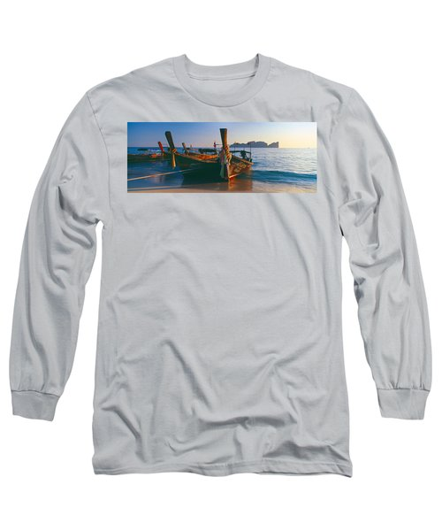 Fishing Boats In The Sea, Phi Phi Long Sleeve T-Shirt