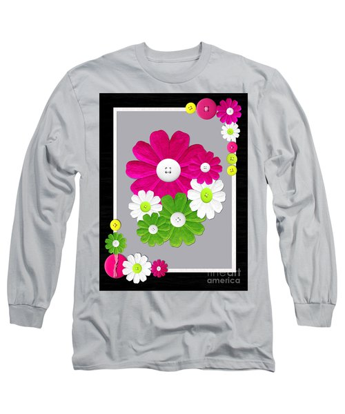 Long Sleeve T-Shirt featuring the photograph  Delightful Florals by Tina M Wenger