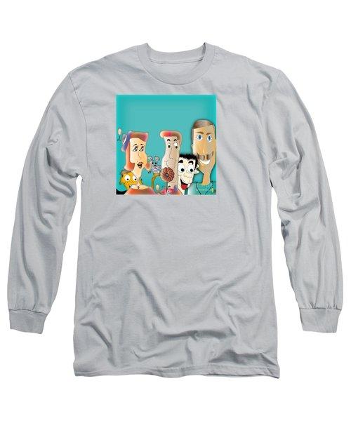 Long Sleeve T-Shirt featuring the digital art Friendship by Iris Gelbart
