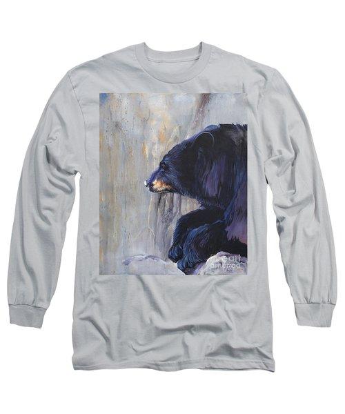 Grandfather Bear Long Sleeve T-Shirt by J W Baker