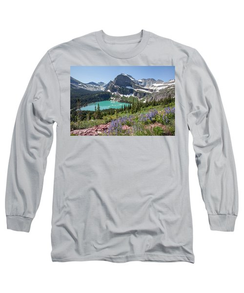 Grinnell Lake Flowers Long Sleeve T-Shirt